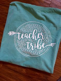 Teacher Tribe Teepee T-Shirt with Aztec Back  by TeacherTribeTees
