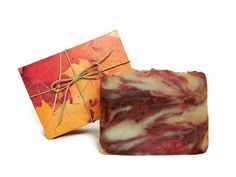 Beautiful packaging and all Natural!!  Autumn Harvest Soap Handmade Soap Vegan Soap by SimpleHomeAccents