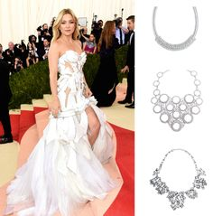 Hollywood's most glamour night took place last night at the ‪#‎MetGala‬ & we had so many favorites! Kate Hudson was among our faves. What Traci Lynn Necklace would you have styled her #MetGala gown with?  A) Haute Couture B)Fame & Fortune C)Expression