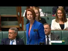 FREAKING YEAH! Julia Gillard Smashes Tony Abbott for Sexism and Misogyny - YouTube. Proud of you, sister Gillard. History will tell the truth.