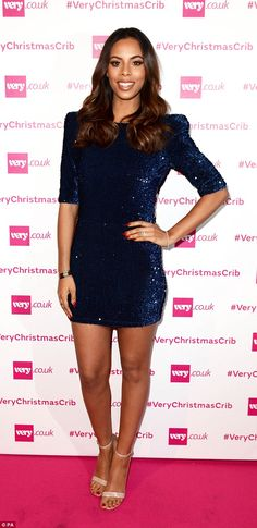 48428984667 Rochelle Humes dazzles in blue sequin dress at Very party - Celebrity  Fashion Trends