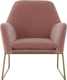 Frame Armchair, Blush Cotton Velvet from Made.com. Pink. Soft curves and a sleek contemporary shape are integral to the charm of our Frame armchair...