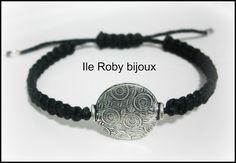 braccialetto macramè nero - moda primavera estate 2013 - ile roby bijoux