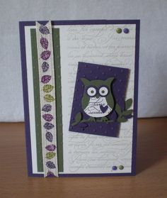 stampin up, cards owl