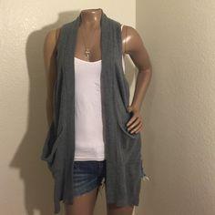 Gray Cashmere vest Grey cashmere vest. Perfect condition Shae Jackets & Coats Vests