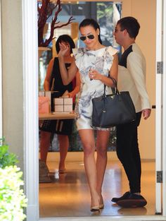 Naya leaving the wedding dress store with Kevin. because they're best friends in real friends. and they're awesome