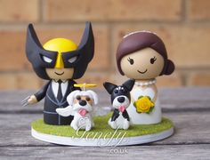 Wolverine and bride with pets by Genefy Playground https://www.facebook.com/genefyplayground