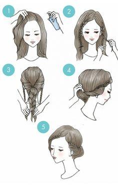 20 Cute Hairstyles That Are Extremely Easy To Do 20 schattige kapsels die heel gemakkelijk te doen zijn Cute Quick Hairstyles, Braided Crown Hairstyles, Cute Hairstyles, Stylish Hairstyles, Greek Hairstyles, Hairstyle Ideas, Wedding Hairstyles, Teenage Hairstyles, Curly Haircuts