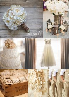 Beige and cream weddings are so rustic and beautiful. Our burlap stem wrap pulls the colors together perfectly Check out this bouquet among others in our Etsy shop, Blue Orchid Creations. Any bouquet can be customized by size, color, and shape for any bride.