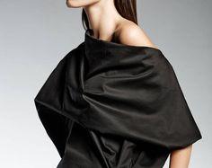 Black Japanese Blouse, Kimono Top - High Quality 100% Italian Cotton