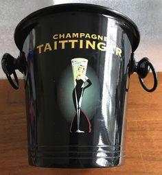 TAITTINGER Champagne ice bucket - Black metal - wine - Vogalu - Made in France