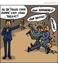 Thema van de cartoon op deze pagina: Cartoon: Is België dan echt een failed state?, klik op de cartoon om naar de volgende te gaan