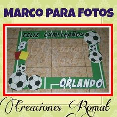 Marco para fotos  Modelo Fútbol  #creacionesromat #marcoparafotos #marcogiganteparafotos #photooftheday #photocall #photobooth #habladores #celebración #party #fiesta #fútbol #fiestadefutbol #fiestatematica #cumpleaños @publicidadmandala Soccer Birthday Parties, Football Birthday, Soccer Party, Birthday Party Decorations, Party Themes, Soccer Birthday Cakes, Twin Birthday, 11th Birthday, Sports Day Kindergarten