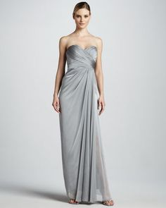 this dress, in another color. Strapless Sweetheart Gown by Badgley Mischka at Neiman Marcus.
