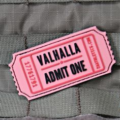 Valhalla Admit One Morale Patch