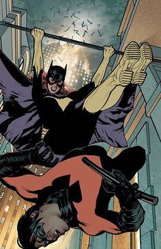 Batgirl vs Nightwing by Adam Hughes