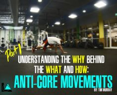 Understanding the why behind the what & how of ANTI-CORE MOVEMENTS #tips #fitness #training Behind, Core, Training, Fitness, Tips, Work Outs, Excercise, Onderwijs, Race Training