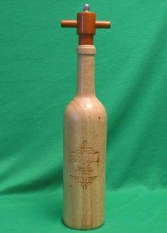 Wine Bottle Shaped Pepper Mill Pepper And Salt