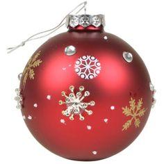 Weihnachtsbaumkugeln-Crystals-Rot-9cm-2er-Set