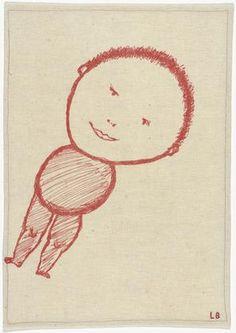 Louise Bourgeois - Untitled (Child on Diagonal), 2003 - Screenprint on fabric
