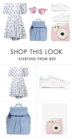 Aesthetic by thetrendymermaid on Polyvore featuring moda, Caroline Constas, adidas, Vera Bradley, Aquaswiss and Fujifilm