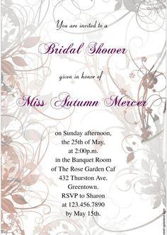 Wedding Shower Flyer