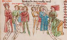 Wolfenbüttel, Herzog August Bibliothek,  Thomasin <Circlaere>   Welscher Gast (W) — Süddeutschland, 3. Viertel des 15. Jhs. Cod. Guelf. 37.19 Aug. 2° Folio 47v