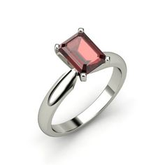 The Ara Ring customized in Garnet & White Gold