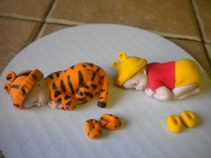 Tiger and Winnie The Pooh Sleeping Babies — 3D Figures
