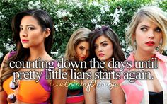 Smile because u r counting down the days until PLL starts again. OMG that's totally me!