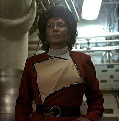 Uhura looking serious - Star Trek IV The Voyage Home, Paramount, 1987