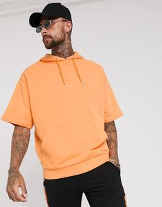 Buy ASOS DESIGN oversized short sleeve hoodie in bright orange at ASOS. With free delivery and return options (Ts&Cs apply), online shopping has never been so easy. Get the latest trends with ASOS now. Short Sleeve Hoodie, Short Sleeves, Asos, Latest Trends, Fitness Models, Polo Ralph Lauren, Mens Fashion, Hoodies, Shorts