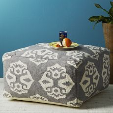 WE pouf, $249.  I could totally make this!  More comfort than a floor pillow, but not as kiddy as a bean bag chair.