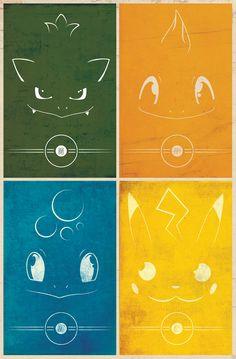 Minimalist Pokemon Posters - Generation One