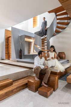 Features of a Traditional Indian Home into A Contemporary Dwelling Space | StudioWhiteScape - The Architects Diary Puja Room, Green Theme, Facade Design, Cladding, Second Floor, Dining Area, Master Bedroom, Living Spaces, Relax