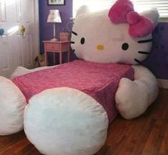 Cutest Girls Hello Kitty Bed Set <3 #Bedding #Girls #Bedroom #Beds #HelloKitty