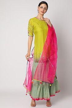 Plain Dress, Pernia Pop Up Shop, Indian Designer Wear, Trendy Dresses, Set Design, Printed Cotton, Kurti, Lime, Saree