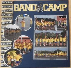 Band Camp Layouts - Scrapbook.com