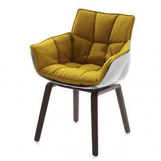 B&B Italia Husk Oak Legs Chair by Patricia Urquiola - Chaplins Garden Lounge Chairs, Dinning Chairs, Living Room Chairs, Dining Furniture, Home Furniture, Furniture Design, Patricia Urquiola, Victorian Chair, Swinging Chair