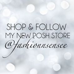 Check out my new posh store Follow & shop my new posh store/closet @fashionnsensee . This closet will include hand picked brand new items NWT and/or NWOT that I get from a vendor. Keep an eye out as I will be adding items daily.. This will be strictly Poshmark transactions only. Feel free to follow me  cute gifts will be included if you purchase $60+ Accessories