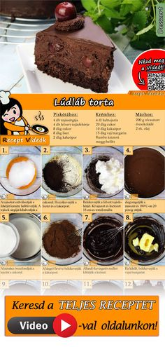 Goosefoot cake recipe with video - Tasty chocolate cake recipe - New Popular Pins Cereal Recipes, Cookie Recipes, Margarine Recipe, Tasty Chocolate Cake, Sweet And Salty, Relleno, No Cook Meals, Fun Desserts, No Bake Cake