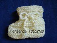 Tentando Tricotar: Receita do sapatinho fácil
