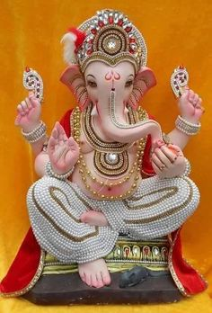 Make this Ganesha Chathurthi 2020 special with rituals and ceremonies. Lord Ganesha is a powerful god that removes Hurdles, grants Wealth, Knowledge & Wisdom. Jai Ganesh, Ganesh Lord, Ganesh Idol, Shree Ganesh, Ganesh Statue, Ganesha Art, Shri Hanuman, Durga Maa, Durga Goddess