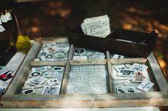 The Goodrich Wedding, pt I - temporary tattoos! Tattoo Station, Wedding Decorations, Wedding Ideas, Woodland Wedding, Temporary Tattoo, Wedding Bells, Favors, Parties, Weddings