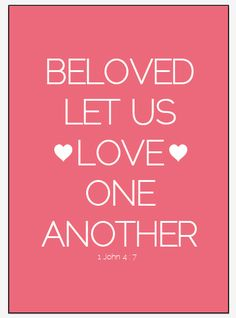 GOD says...LET us LOVE One Another*Let us LOVE...*I obediently respond to this command in JESUS Name*Amen