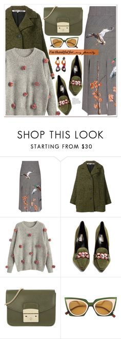 """""""I'm Thankful For..."""" by spenderellastyle ❤ liked on Polyvore featuring Stella Jean, McQ by Alexander McQueen, Fabrizio Viti, Furla, Toolally and thanksgiving"""