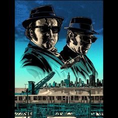 Tim Doyle Blues Brothers Movie Art Print Signed and numbered with an edition of Size of the poster is 18 x 24 Inches. Delta Blues, Blues Brothers Movie, Films Cinema, Screen Print Poster, Blue Poster, Alternative Movie Posters, Film Serie, Cultura Pop, Great Movies