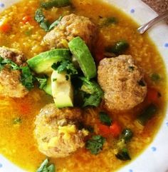 Meatball and Rice Soup (Sopa de Arroz con Albóndigas) | My Colombian Recipes
