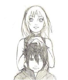 Imagen de sasusaku, sasuke, and sakura
