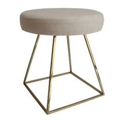 Giza Stool in polished brass
